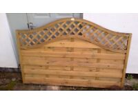 Forest Prague 1.2m Fence Panel. Used as a display. 2 Panels.