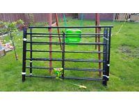 BLACK KINGSIZE METAL BED FRAME FREE TO NEW HOME buyer must uplift