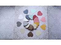 100 colour hearts
