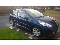 Peugeot 207 hdi diesel reg 2008, MOT august and £30 to tax a year.
