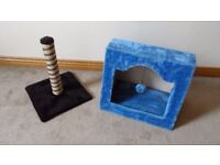 Cats Scratching Post and activity, sleeping house