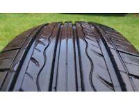1x Kumho Solus KH17 215/65 R16 tyre. 6+mm