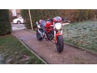 Low Miles Ducati Monster 696, Termignoni exhaust, sounds awesome