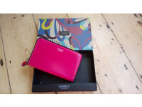 Pink leather Osprey wallet