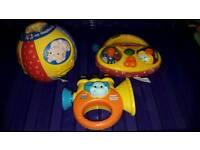 Vtech toys - pop up surprise ball, trumpet & radio