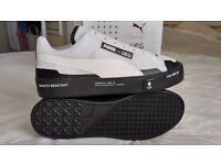 Puma Court Play SlipOn X UEG White/Black ( UK size 9/Eur 43 ) **New With Box**