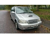 7 seater kia sedona 2.9 diesel manual,excellent runner,tow bar,perfect family car