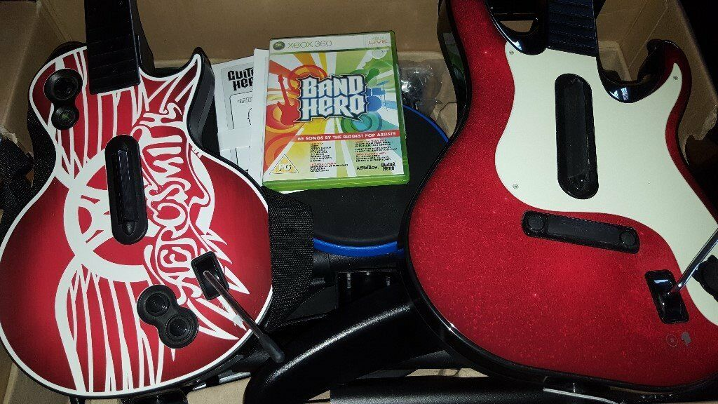 Band Hero for Xbox 360 (guitars and drums)