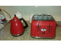 Matching kettle toaster and bin