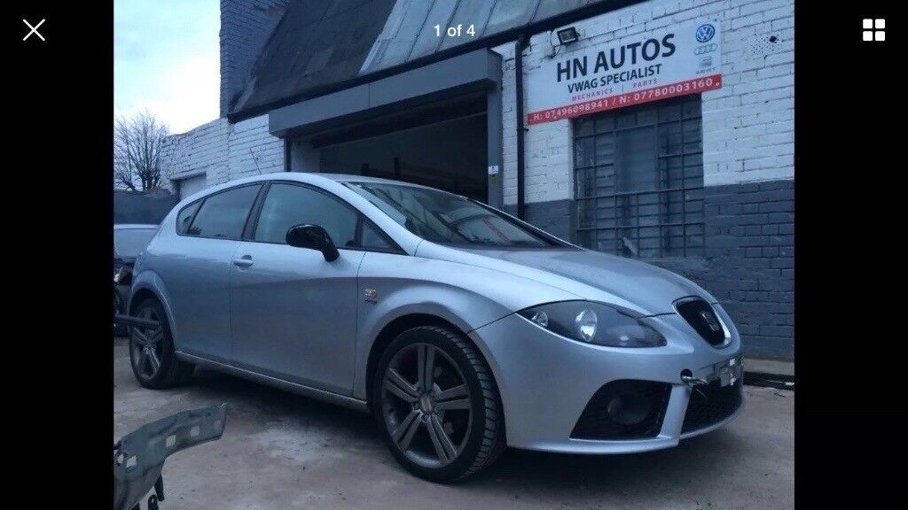 "Seat Leon fr mk2 2006-2011 alloy wheels 225/40 18"" with free tyres - breaking"