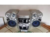 Panasonic SA-AK320 - AM/FM Tuner Twin Cassette Deck & 5 CD Changer Stereo System - w/remote