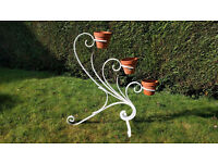 OLD FRENCH WROUGHT IRON PLANT STAND