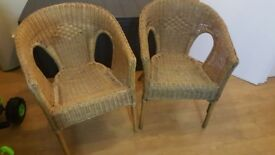 2 Bamboo Rattan Chairs (£18)