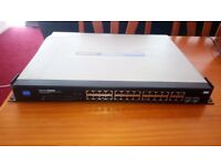 linksys 24 port ethernet switch with POE (power over ethernet) and webview