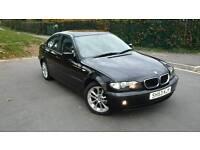 2003 BMW 316i SE. BLACK UNMARKED LEATHERS, FULL MOT, DRIVES LIKE NEW