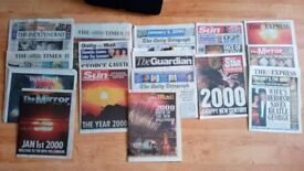SPECIAL EDITION NEWSPAPERS MILLENNIUM