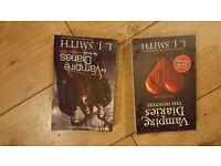 2 x L.J SMITH VAMPIRE DIARIES PAPERBACK BOOKS