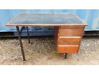 Office Desk - Small - 3 Drawer - Free To Collector