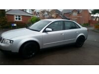 AUDI A4 130HP,12MONTHS MOT, SERVICE HISTORY, CHEAP ON FUEL TAX, TIDY, HEATING, CD, ALLOY £675ONO