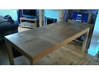 oak dining table seats six