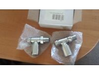 Deluxe straight radiator valves x2