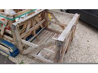 Sturdy wooden crates