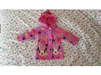 Disney Store Brand New Without Tags Minnie Mouse Rain Coat 12-18 Months.