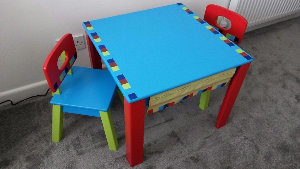 Early Learning Centre Children S Wooden Table And Chairs