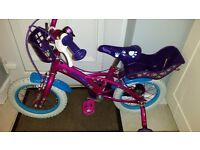 Childs pink bike