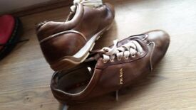 PRADA in leather original paid 2 years ago 330£!! only £ 15!!!! as seen size 37-38