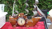 Antique Ship Clock with lights