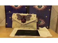 Gucci white animalier leather chain bag