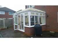 Conservatory - 3mx4m Double glazed windows/doors with polycarbonate roof