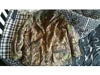 Mens Camo Percussion Brocard Wildfowling Hunting Jacket Shooting Fishing Coat