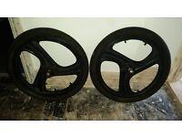 20 inch bmx wheelset.