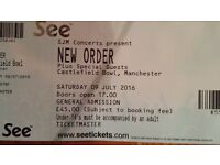 New Order Ticket (x1) - Saturday 9 July @ Castlefield Bowl, Manchester