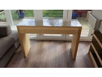 2 sets of drawers + dressing table with glass top.