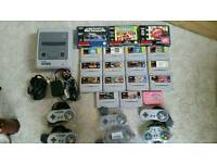Super nintendo snes bundle retro