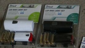 bike lights set front and rear+ batteries /brand new