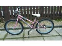 Girls pink mountain bike 18 speed