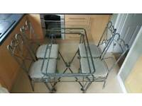 4 Chair, glass dining table set