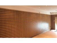 Oak slat wall like new £25