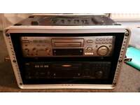 2 x JVC karaoke cd+g/VCD players with crash box
