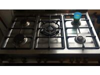 5 hob delonghi sliver gas cooker