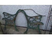 iron bench ends
