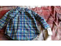 18m Ralph Lauren check shirt