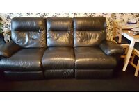 3 and 2 seater leather recliner