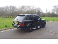 "**Price drop £10495** 2006 Range Rover Sport 22"" wheels black 2.7 HSE"