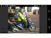 Piaggio Liberty 125 Blue Motor Scooter 125cc Motorcycle,Moped Twist and Go
