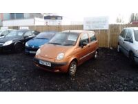 2001 Y REG DAEWOO MATIZ 796CC MOT MARCH GREAT DRIVER IDEAL 1ST CAR LOW MILEAGE £295